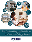 Report cover for The Continued Impact of COVID-19 on Community College Students